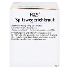 H&S Spitzwegerichkraut 20x1.5 Gramm - Linke Seite
