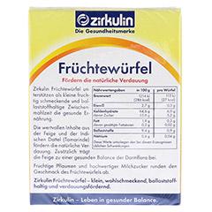 ZIRKULIN Früchtewürfel 12 Stück - Rückseite