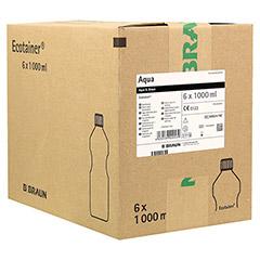 AQUA B. Braun Spüllösung Kunststoff Flasche 6x1000 Milliliter