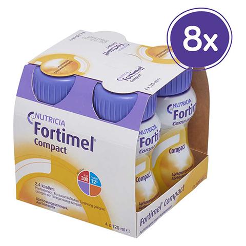 FORTIMEL Compact 2.4 Aprikosengeschmack 8x4x125 Milliliter