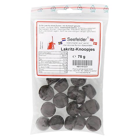 SEEFELDER Lakritz-Knoopjes zuckerfrei KDA 75 Gramm