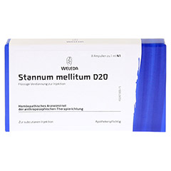 STANNUM MELLITUM D 20 Ampullen 8x1 Milliliter N1 - Vorderseite