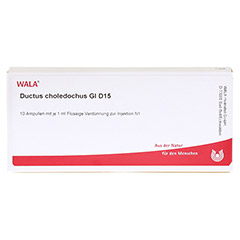 DUCTUS CHOLEDOCHUS GL D 15 Ampullen 10x1 Milliliter N1 - Vorderseite