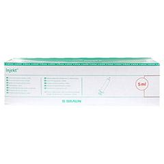 Braun Injekt Spritze 5 ml Luer exzentrisch 100x5 Milliliter - Vorderseite