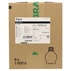 AQUA B. Braun Spüllösung Kunststoff Flasche 6x1000 Milliliter - Vorderseite