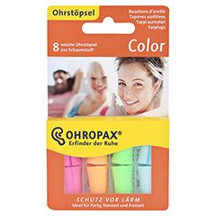 OHROPAX color Schaumstoff Stöpsel 8 Stück - Vorderseite