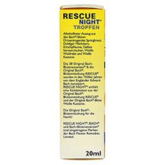 BACH ORIGINAL Rescue night Tropfen alkoholfrei 20 Milliliter - Linke Seite