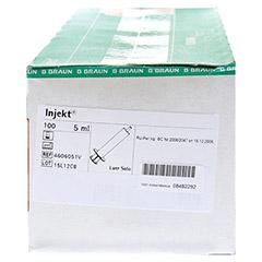 Braun Injekt Spritze 5 ml Luer exzentrisch 100x5 Milliliter - Rechte Seite