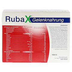 RUBAX Gelenknahrung Pulver 30 Stück - Rückseite