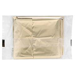 SIRIUS Rettungsdecke 160x210 cm gold/silber 1 Stück - Rückseite