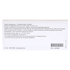 DUCTUS CHOLEDOCHUS GL D 15 Ampullen 10x1 Milliliter N1 - Rückseite