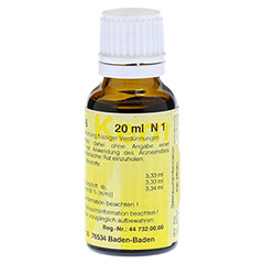 MERIDIANKOMPLEX 6 Tropfen zum Einnehmen 20 Milliliter N1 - Rückseite