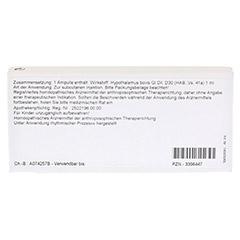 HYPOTHALAMUS GL D 30 Ampullen 10x1 Milliliter N1 - Rückseite