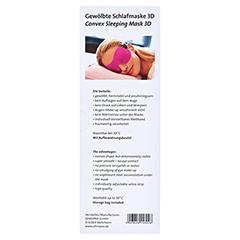 OHROPAX Schlafmaske 3D pink 1 Stück - Rückseite