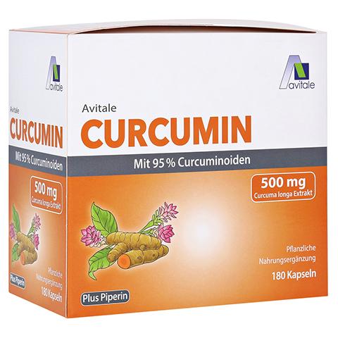 CURCUMIN 500 mg 95% Curcuminoide+Piperin Kapseln 180 Stück
