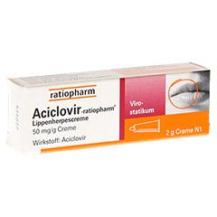 Aciclovir-ratiopharm Lippenherpescreme 2 Gramm N1