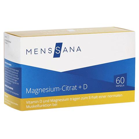 MAGNESIUMCITRAT+D MensSana Kapseln 60 Stück