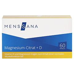 MAGNESIUMCITRAT+D MensSana Kapseln 60 Stück - Vorderseite