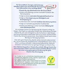 DOPPELHERZ Vitamin B12 Tabletten 30 Stück - Rückseite