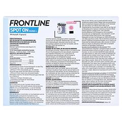 FRONTLINE Spot on H 40 Lösung f.Hunde 6 Stück - Rückseite