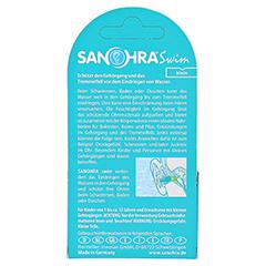 SANOHRA swim Ohrenschutz f.Kinder 2 Stück - Rückseite