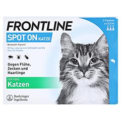 FRONTLINE Spot on K Lösung f.Katzen 3 Stück - Vorderseite
