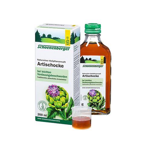 Artischocken naturreiner Heilpflanzensaft Schoenenberger 200 Milliliter