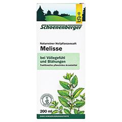 Melisse naturreiner Heilpflanzensaft Schoenenberger 200 Milliliter - Vorderseite