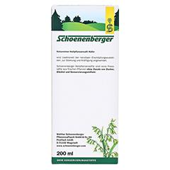 Hafer naturreiner Heilpflanzensaft Schoenenberger 200 Milliliter - Rückseite