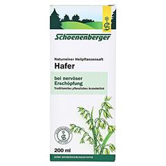 Hafer naturreiner Heilpflanzensaft Schoenenberger 200 Milliliter - Vorderseite