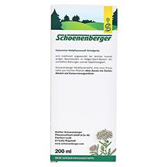 Schafgarbe naturreiner Heilpflanzensaft Schoenenberger 200 Milliliter - Rückseite