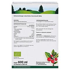 Schoenenberger Acerola Naturtrüber Fruchtsaft 3x200 Milliliter - Rückseite