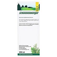 Wermut naturreiner Heilpflanzensaft Schoenenberger 200 Milliliter - Rückseite