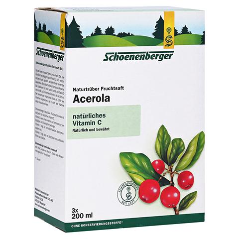 Schoenenberger Acerola Naturtrüber Fruchtsaft 3x200 Milliliter