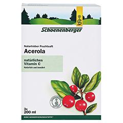Schoenenberger Acerola Naturtrüber Fruchtsaft 3x200 Milliliter - Vorderseite