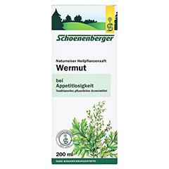 Wermut naturreiner Heilpflanzensaft Schoenenberger 200 Milliliter - Vorderseite