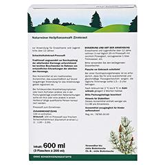 Zinnkraut naturreiner Heilpflanzensaft Schoenenberger 3x200 Milliliter - Rückseite