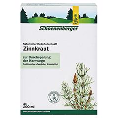 Zinnkraut naturreiner Heilpflanzensaft Schoenenberger 3x200 Milliliter - Vorderseite