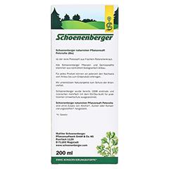 PETERSILIE Schoenenberger Heilpflanzensäfte 200 Milliliter - Rückseite