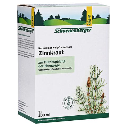 Zinnkraut naturreiner Heilpflanzensaft Schoenenberger 3x200 Milliliter