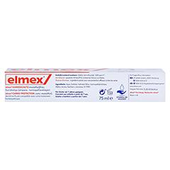 ELMEX mentholfrei Zahnpasta 75 Milliliter - Unterseite