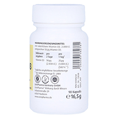 Vitamin D3 2.000 I.E. Kapseln 90 Stück - Linke Seite