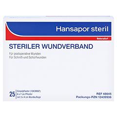 HANSAPOR steril Wundverband 6x7 cm 25 Stück - Vorderseite