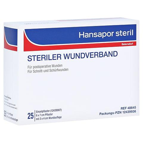 HANSAPOR steril Wundverband 6x7 cm 25 Stück