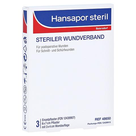 HANSAPOR steril Wundverband 6x7 cm 3 Stück