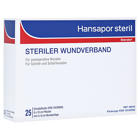 HANSAPOR steril Wundverband 8x10 cm 25 Stück
