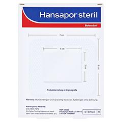 HANSAPOR steril Wundverband 6x7 cm 3 Stück - Rückseite