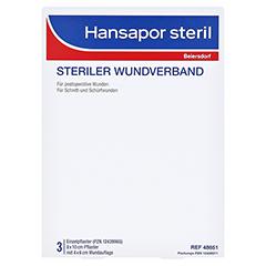 HANSAPOR steril Wundverband 8x10 cm 3 Stück - Vorderseite