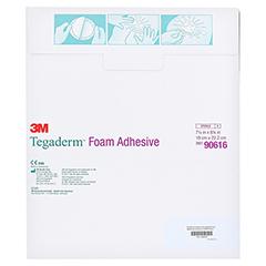 TEGADERM Foam Adhesive 19x22,2 cm oval 90616 5 Stück - Rückseite