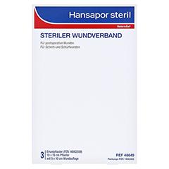 HANSAPOR steril Wundverband 10x15 cm 3 Stück - Vorderseite